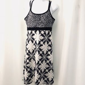 PrAna Black & White Print Athletic Dress